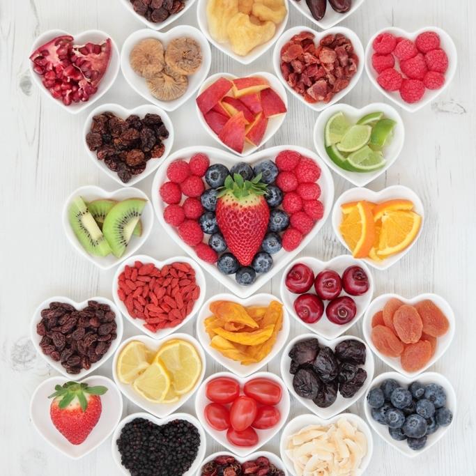 frutti della salute in gelateria