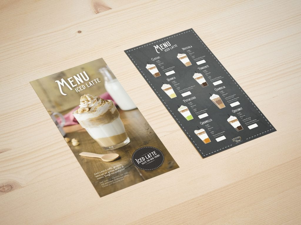 menu iced latte